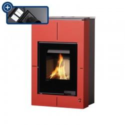 Aquaflamm Vario piecyk z wymiennikiem SAPORO 11/5 kW czerwony + regulacja elektronicznaWYSYŁKA GRATIS