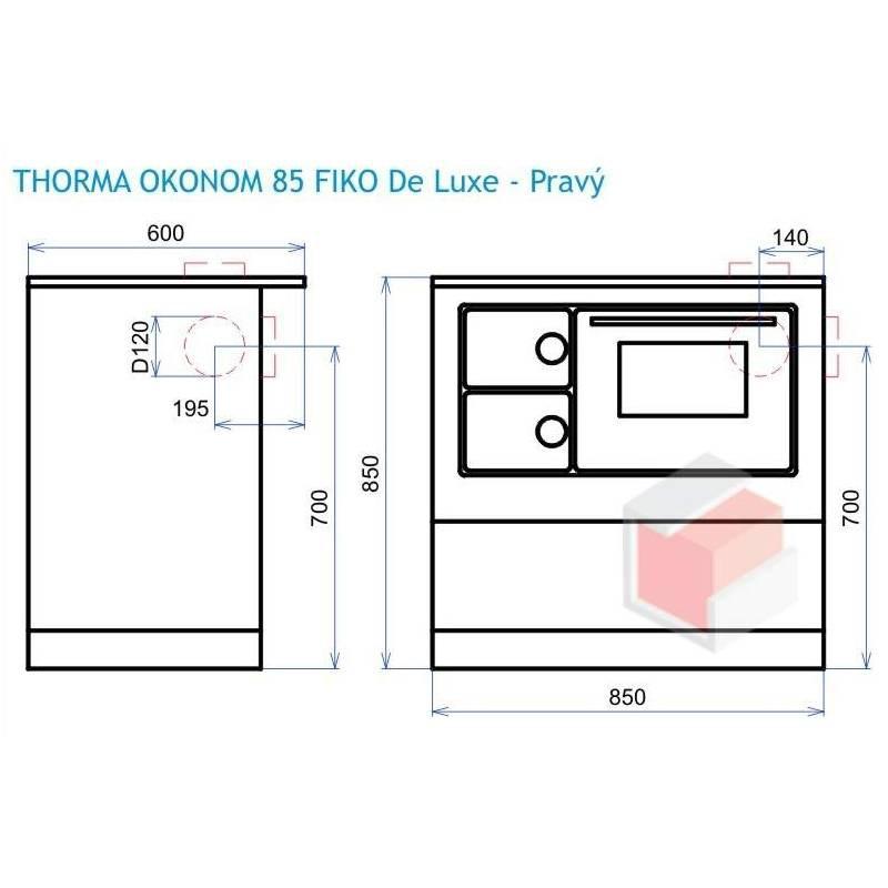 Kuchnia ÖKO85  FIKO DeLuxe prawa lewa kolor kremowy brąz   -> Kuchnia Kolor Kremowy