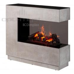 Dimplex kominek elektryczny z obudową Zen (surowy beton) - WYSYŁKA GRATIS