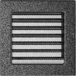 Kratka czarno-srebrna z żaluzją 17x17