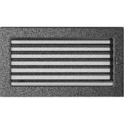 Kratka czarno-srebrna z żaluzją 17x30