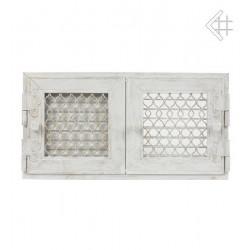 kratka retro otwierana podwójna biały antyk 17x17