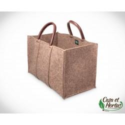 Ekologiczna torba transportowa FILC NATURALNY melanż plus skóra naturalna