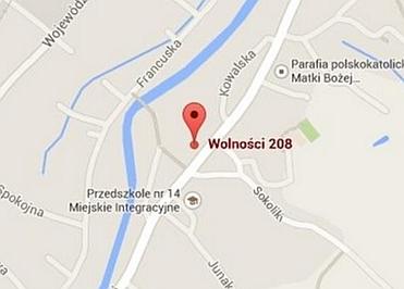 lokalizacja Raczyński Kominki Jelenia Góra